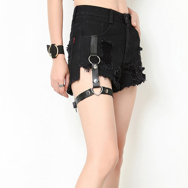 Jeans Shorts Girls Black Shorts