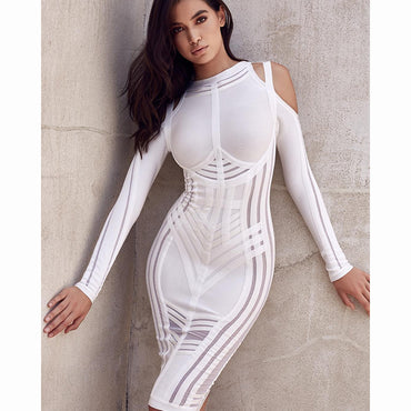 women dress  2018 new arrival high quality summer dress O-Neck Knee-Length bandage dress party Dress Wholesale A80