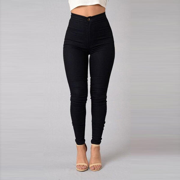 Candy Color Skinny Jeans Woman