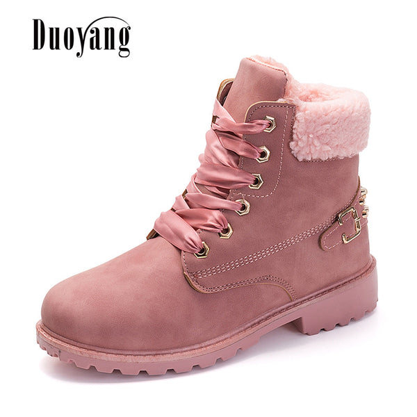 snow boots women shoes female Women boots warm plus velvet winter ankle boots