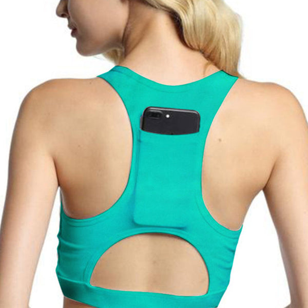 Zipper Bras Sports Top Absorb Sweat Soft Colored Sportswear Female Crop Top