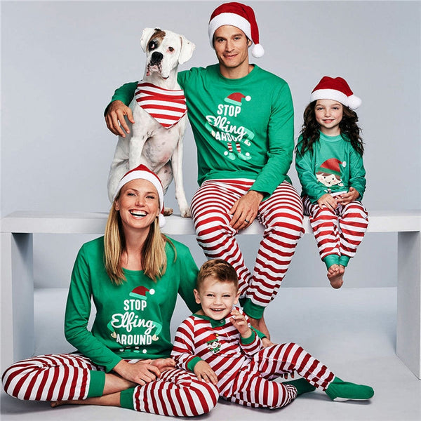 Father Mother Daughter Son Matching Family Outfits Christmas Pajamas