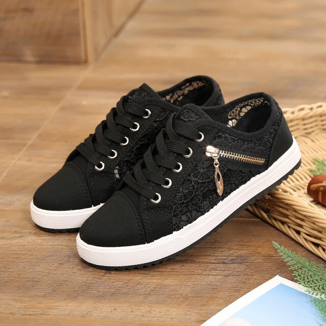 Comfortable Breathable lace-up Sneakers Women's.