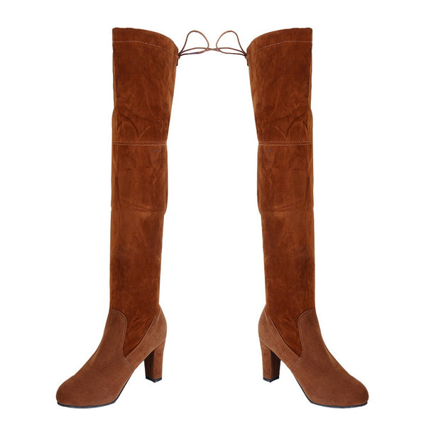 Over the Knee Boots Flat Stretch Sexy Fashion Shoes