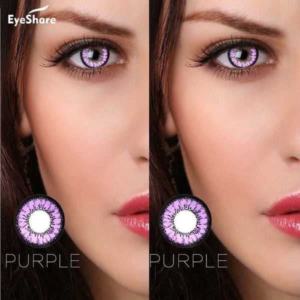 EYESHARE- 2pcs/pair Honey Series Cosmetic Contact Lenses Eye Color Yealy Use