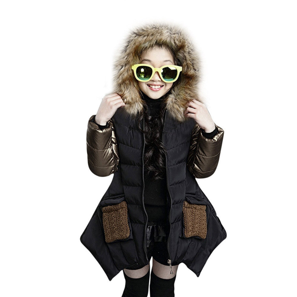 Winter Cotton Coat Long Sleeve Thick Warm Zipper Jacket Hooded.