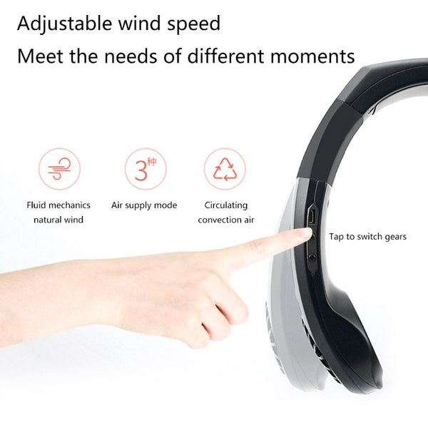 USB Micro Portable 2 in 1 Air Cooler Mini Electric Air Conditioner Portable Hanging Neck Cooling Fan