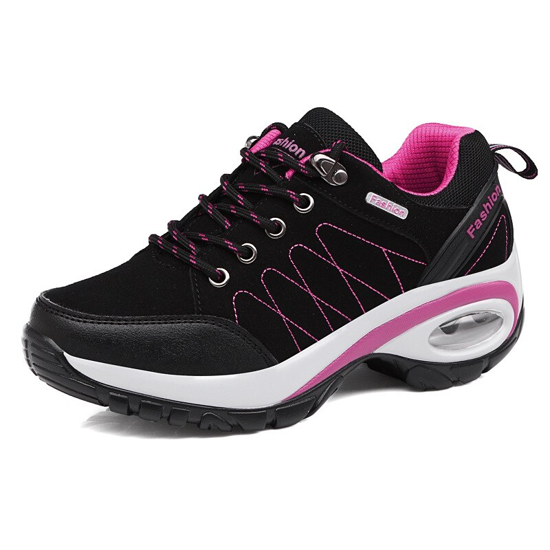 Lightweight Comfortable Breathable Ladies Laces Casual Sneakers.