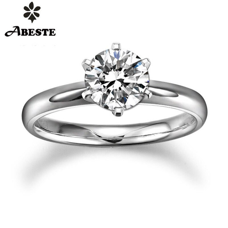 18K White/Yellow/Rose Gold 0.2 CT H-I/SI Certified Real Natural Round Cut Diamond Engagement Ring.