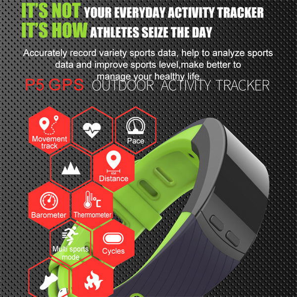 Heart Rate Monitor Wristband Barometer Activity Fitness Tracker For fit bits