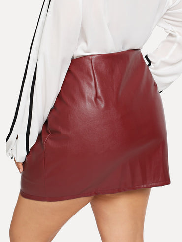 Plus Zipper Decoration Skirts