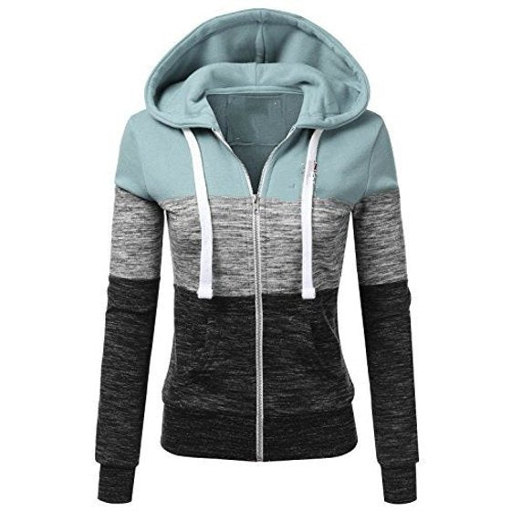 2018 New Women Fashion Plus Size Thin Zip-Up Hoodie Jacket Drawstring Letter Printed Long Sleeve Sweatshirts