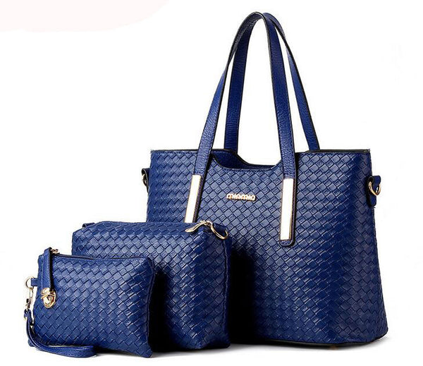 New women shoulder bag famous designer luxury brands women bag set good quality medium women handbag set