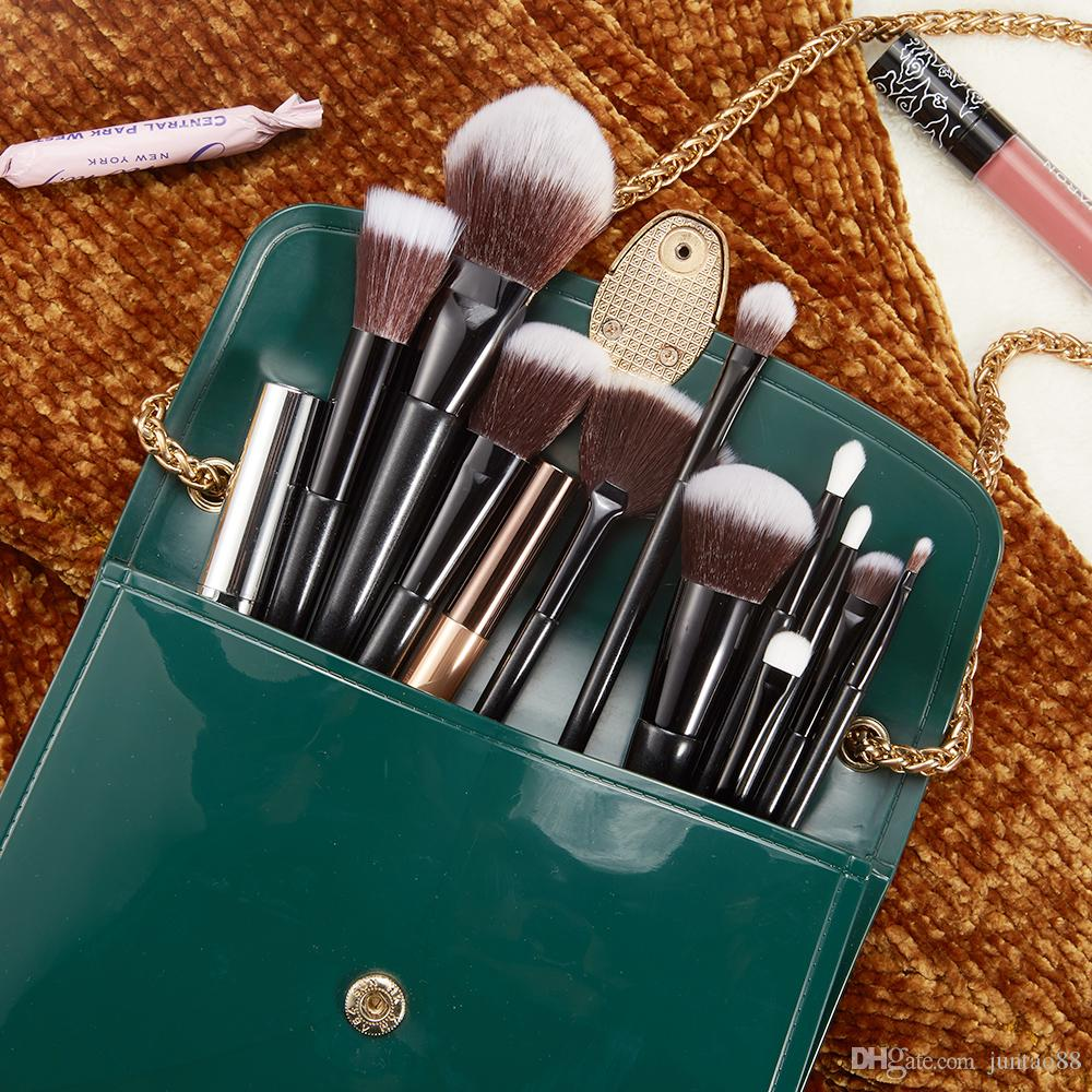 Brush Set, with Cosmetic Bag Synthetic Professional Makeup Brushes 12pcs black makeup kit