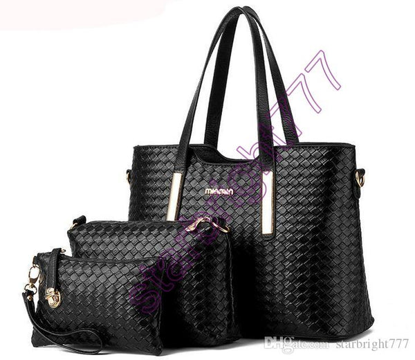Charm in hands new women shoulder bag famous designer luxury brands women bag set good quality medium women handbag set