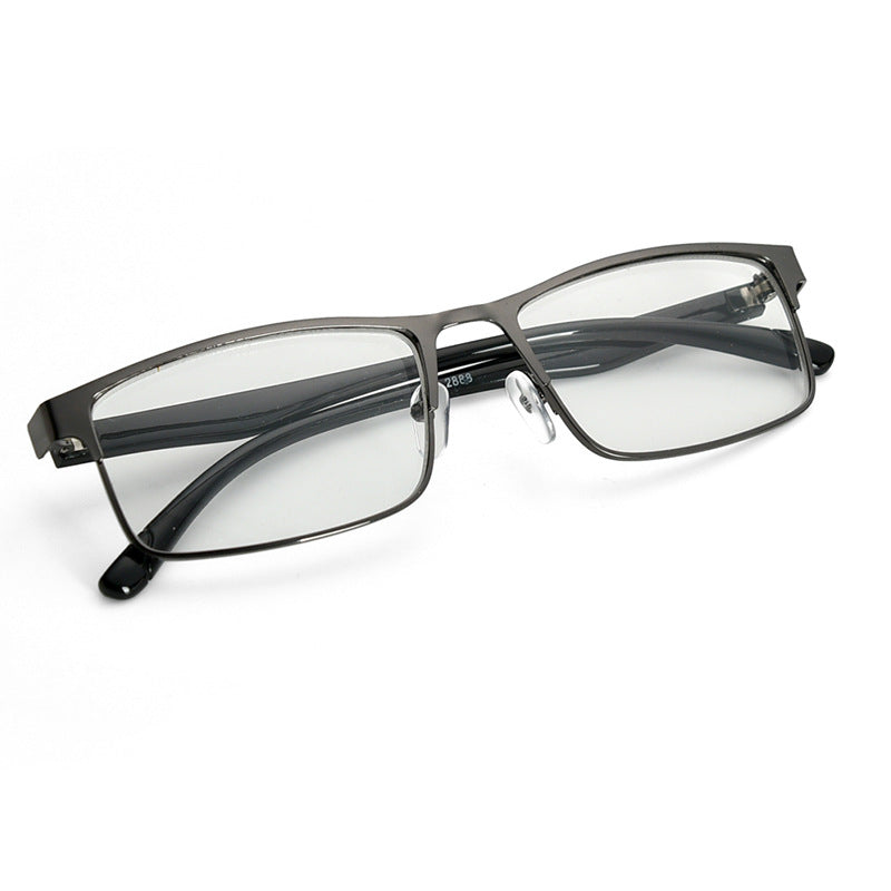 Fashion Black Nearsighted Glasses Metal Full Frame Myopia