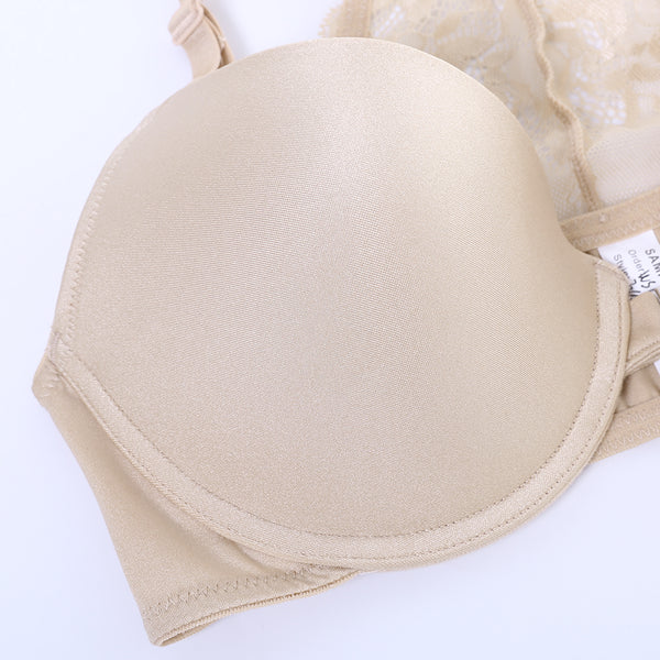 KISSLACE Gather Front Closure Beauty Back Trendy Bras