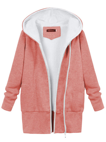 Winter Women Warm Hooded Cotton Jacket Fluffy Outdoor Coats