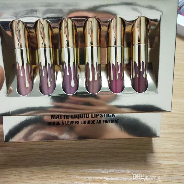 In stock! & Birthday Edition Lip Kit Matte Liquid Lipsticks 6pcs set mini lipgloss kit DHL free