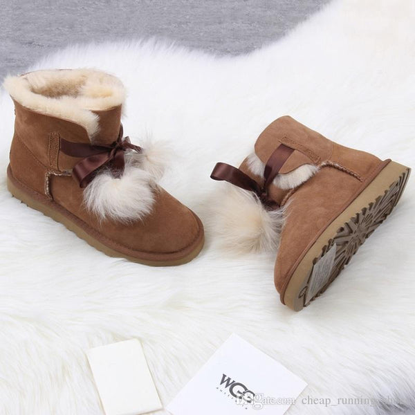 Newest winter Australia Classic snow Boots High Quality WGG tall boots real leather Bailey