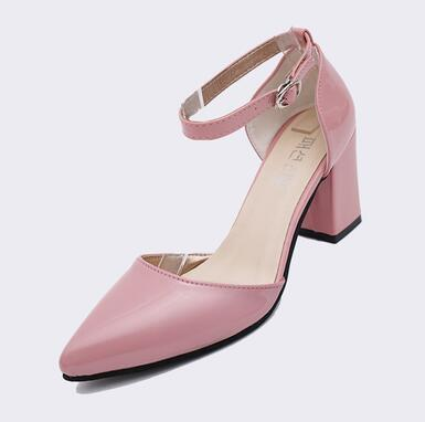 High Heels Pointed Toe Pumps Women Sexy Office Ladies Fashion PU Leather Wedges Platform Shoes Woman
