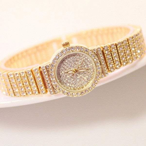 Luxury Brands Diamond Ladies Wrist Watches.f