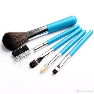 Vander Brush 5PCS Eye&Face Makeup Blue Brushes Set SCM Cosmetic Powder Makeup Brush Soft Cosmetic Set Blush Eyeshadow Makeup Brushes