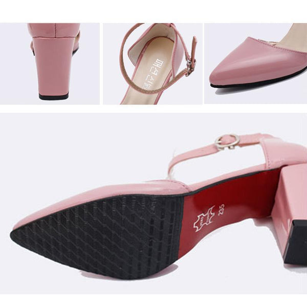 wholesale Summer Red Bottom High Heels Pointed Toe Pumps Women Sexy Office Ladies Fashion PU LeatherWedges Platform Shoes Woman