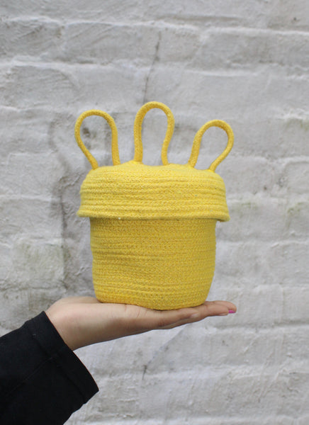 Crazy Head Basket in Yellow