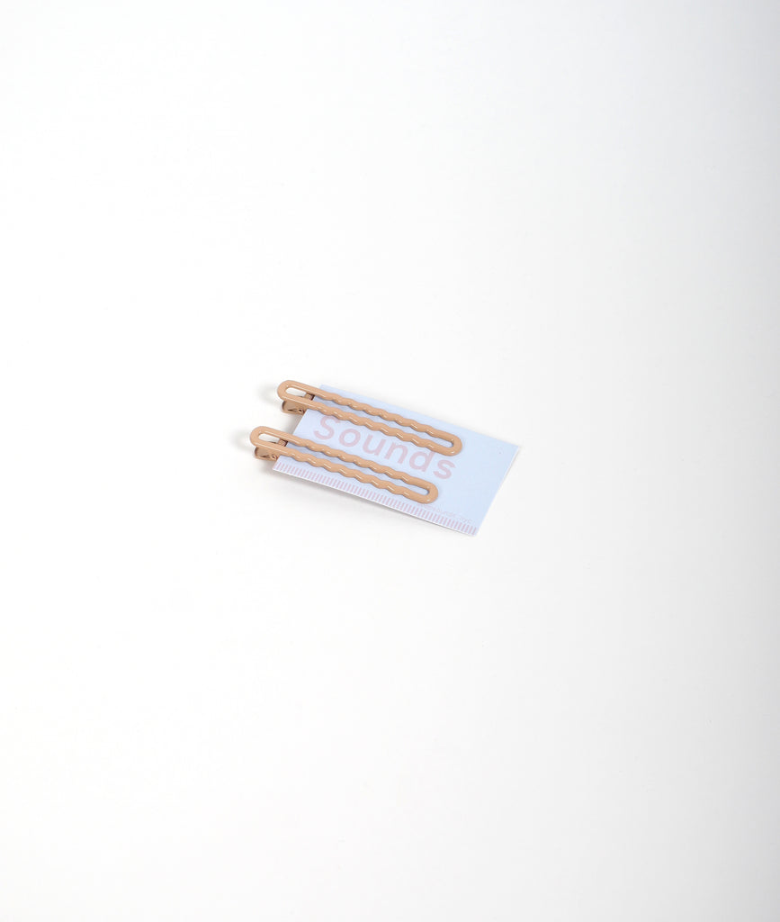Cafe Au Lait Squiggle Clips