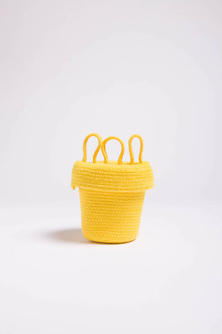 Yellow Crazy Head Basket