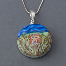 Load image into Gallery viewer, This Artisan Large Lion Lampwork Flamework Glass pendant necklace