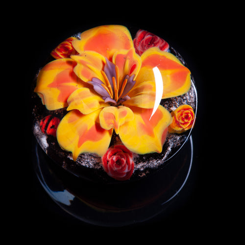 Yellow Flower Memorial Ashes Paperweight