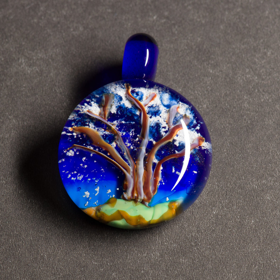 Memorial Ashes Winter Tree Pendant