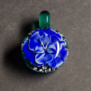 Blue Flower Memorial Pendant