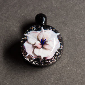 White Flower Memorial Pendant