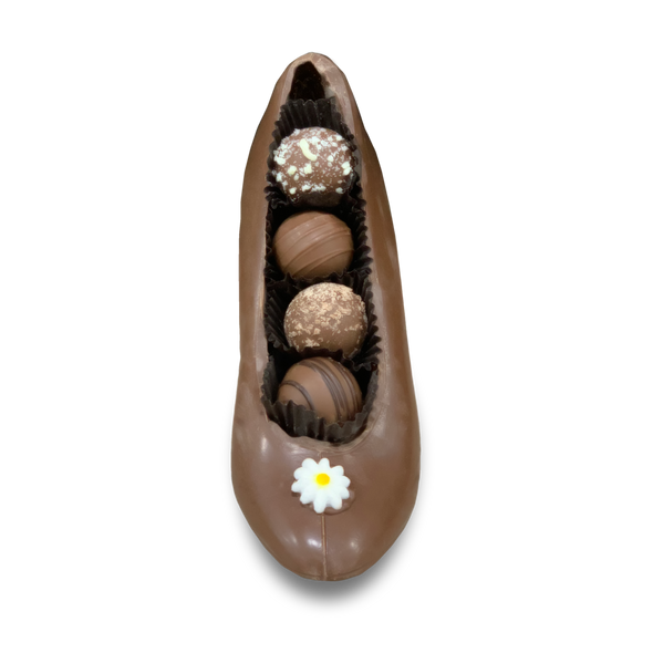 VALENTINE'S DAY TRUFFLE FILLED CHOCOLATE SHOE