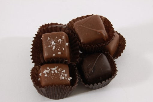 CHOCOLATE COVERED ASSORTED CARAMELS