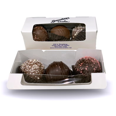 3 PIECE BOX OF TRUFFLES