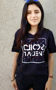Clicks Talent Glitch Inverted T Shirt