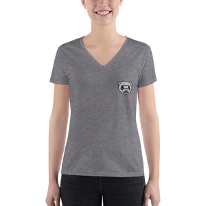 Chika Badge Ladies V-neck