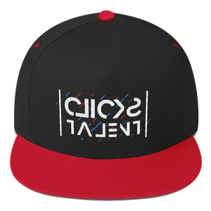 Clicks Talent Glitch Flat Bill Cap