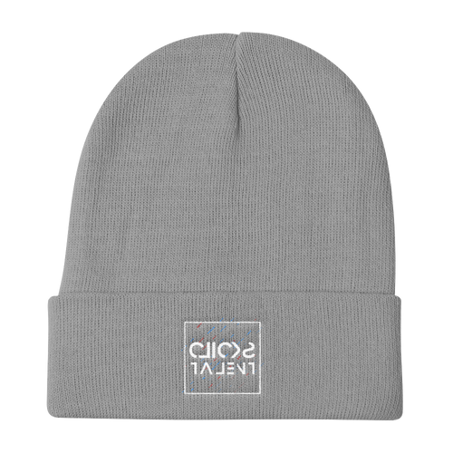 Clicks Talent Glitch Knit Beanie