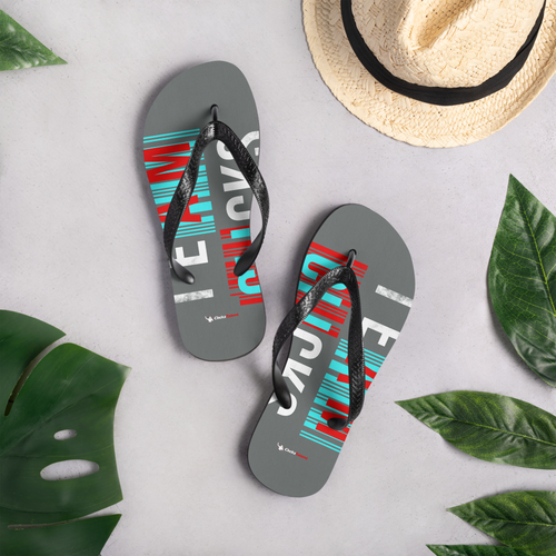 Team Clicks Glitch Summer Flip-Flops