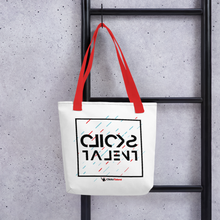 Load image into Gallery viewer, Clicks Talent Glitch Tote bag