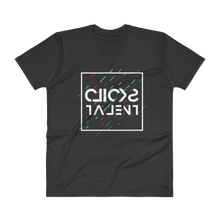 Load image into Gallery viewer, Clicks Talent Glitch Inverted V-Neck
