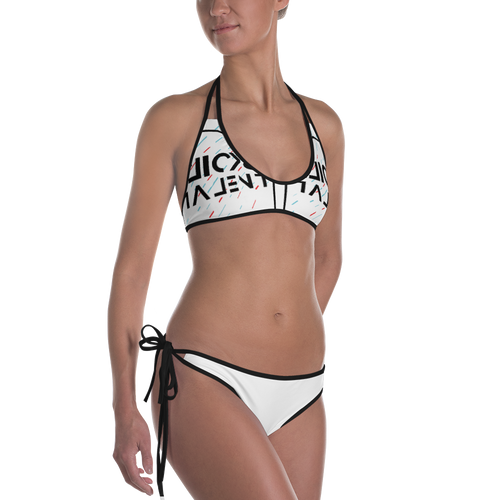 Clicks Talent Branded Glitch Bikini