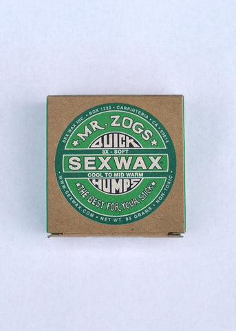 MR ZOGS SEXWAX SURF WAX 3 X SOFT QUICK HUMPS