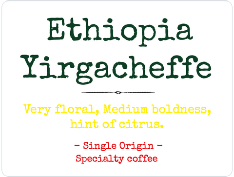 Ethiopia Yirgacheffe - Medium roast