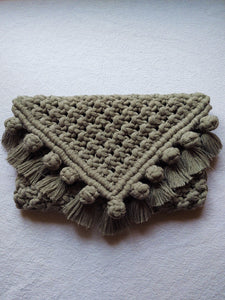 """Eden"" macrame clutch purse"